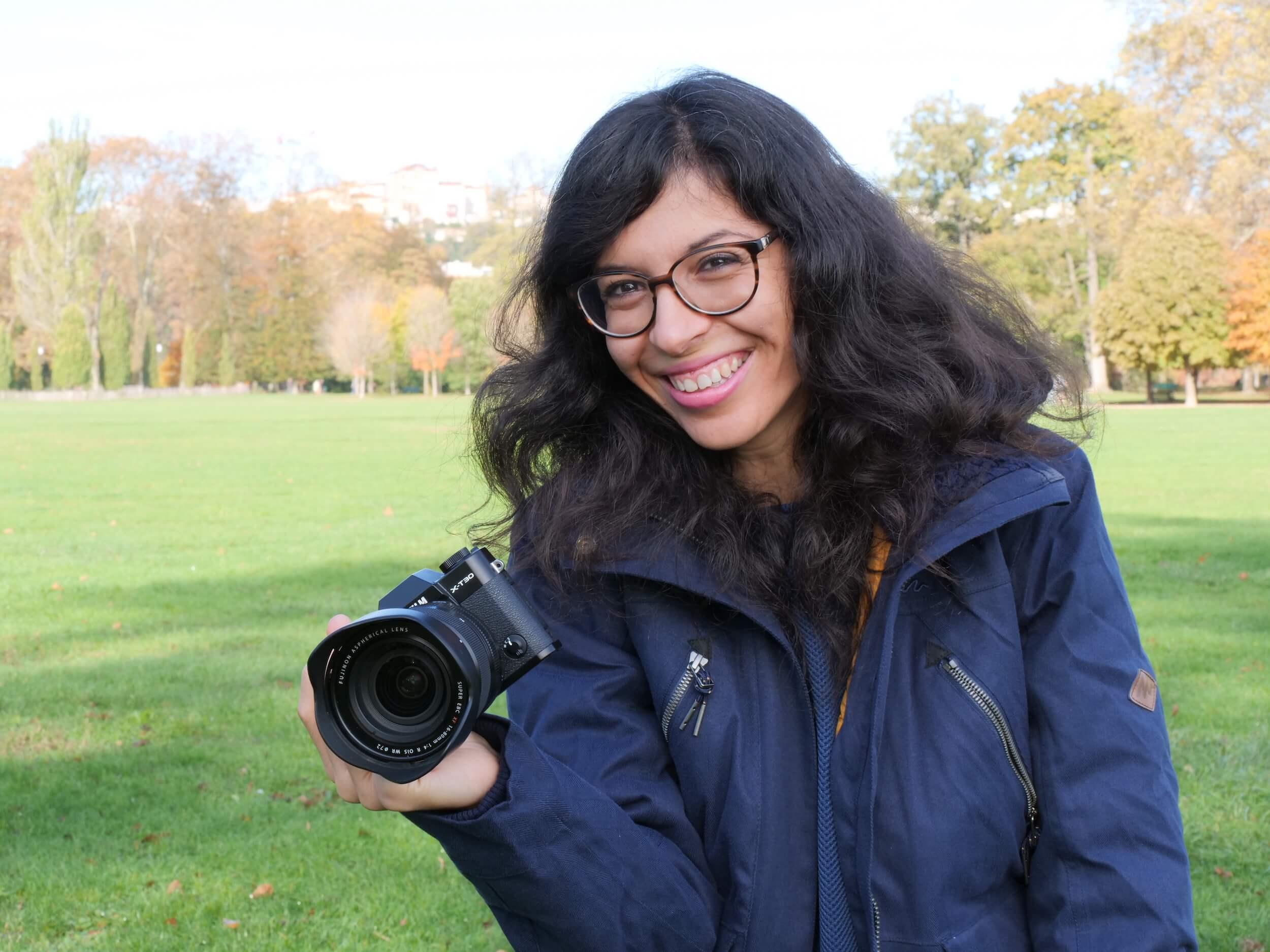 Exemple d'appareil photo testé avant de choisir le plein format