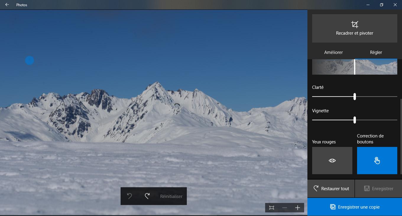 effacer des tâches sur les images numériques avec Windows