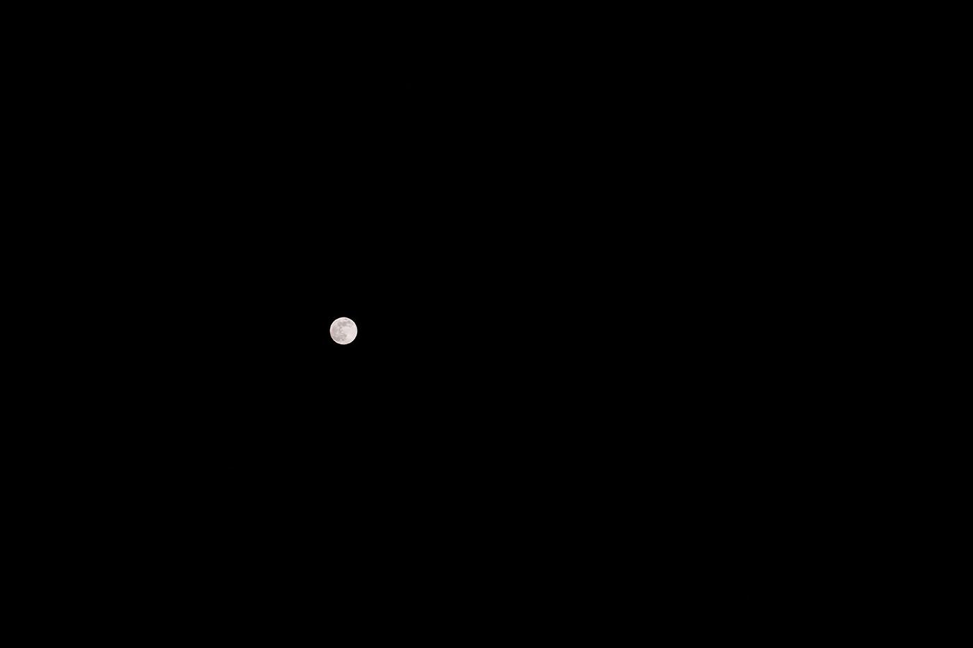 photo astre lunaire avec hybride plein format de Panasonic