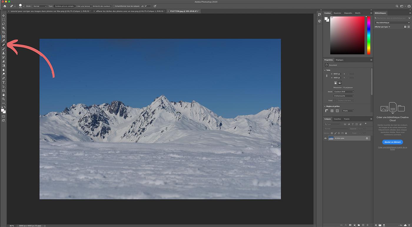 tutoriel effacer tâches sur des photos avec Photoshop