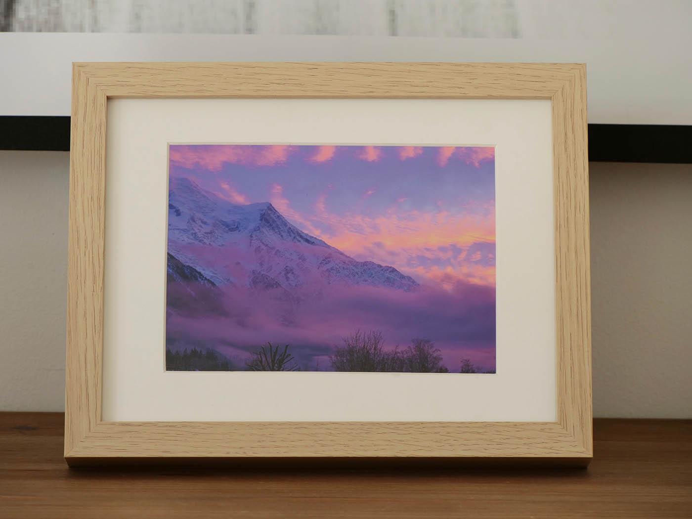 tirage photo coucher de soleil sur le Mont-Blanc