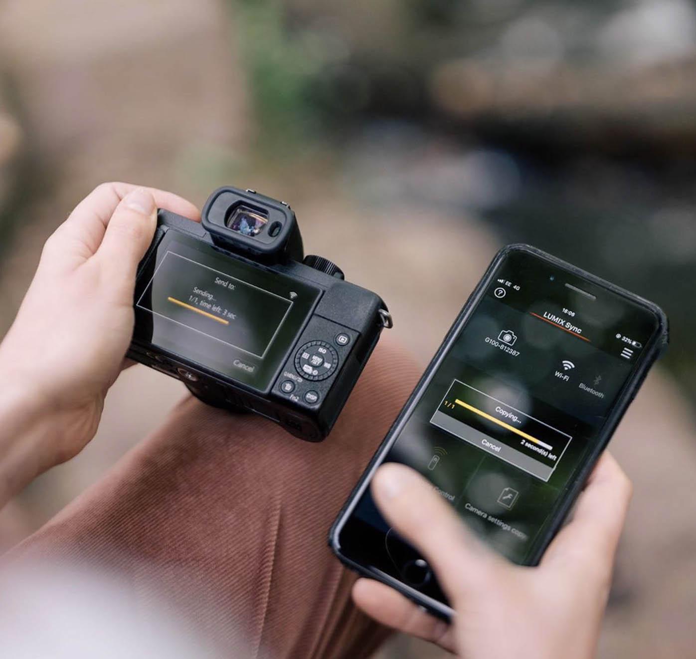 connexion smartphone et hybride Panasonic