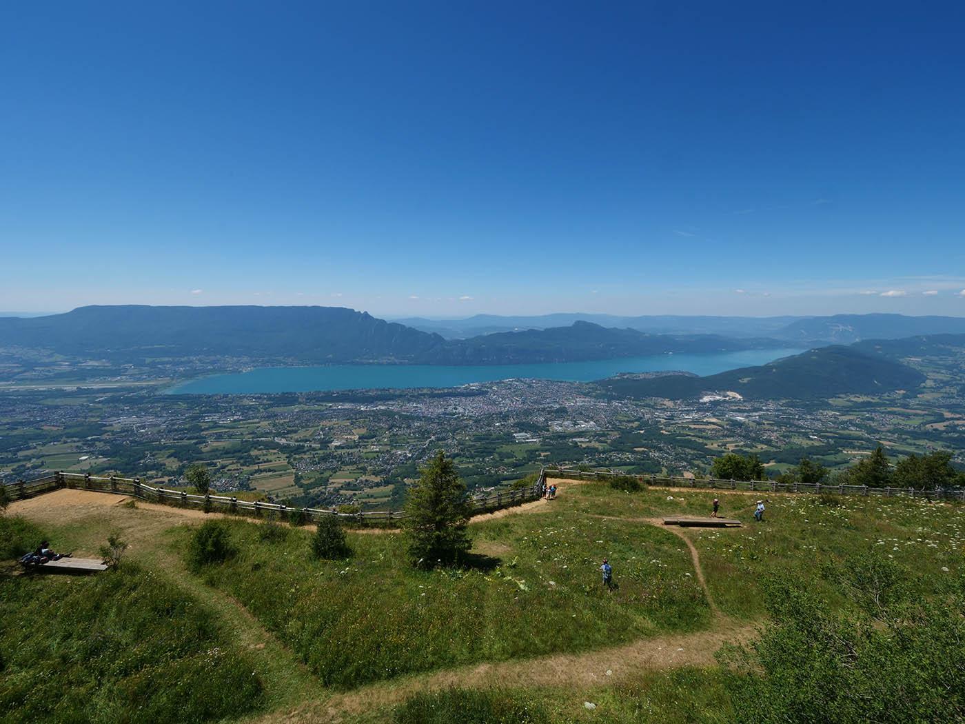 Lac du Bourget depuis Belvédère du Mont Revard