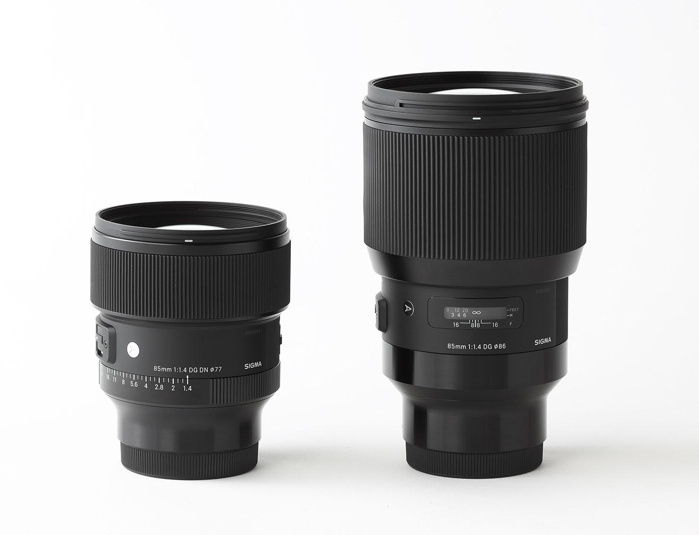 Sigma 85 mm f1.4 monture L et E