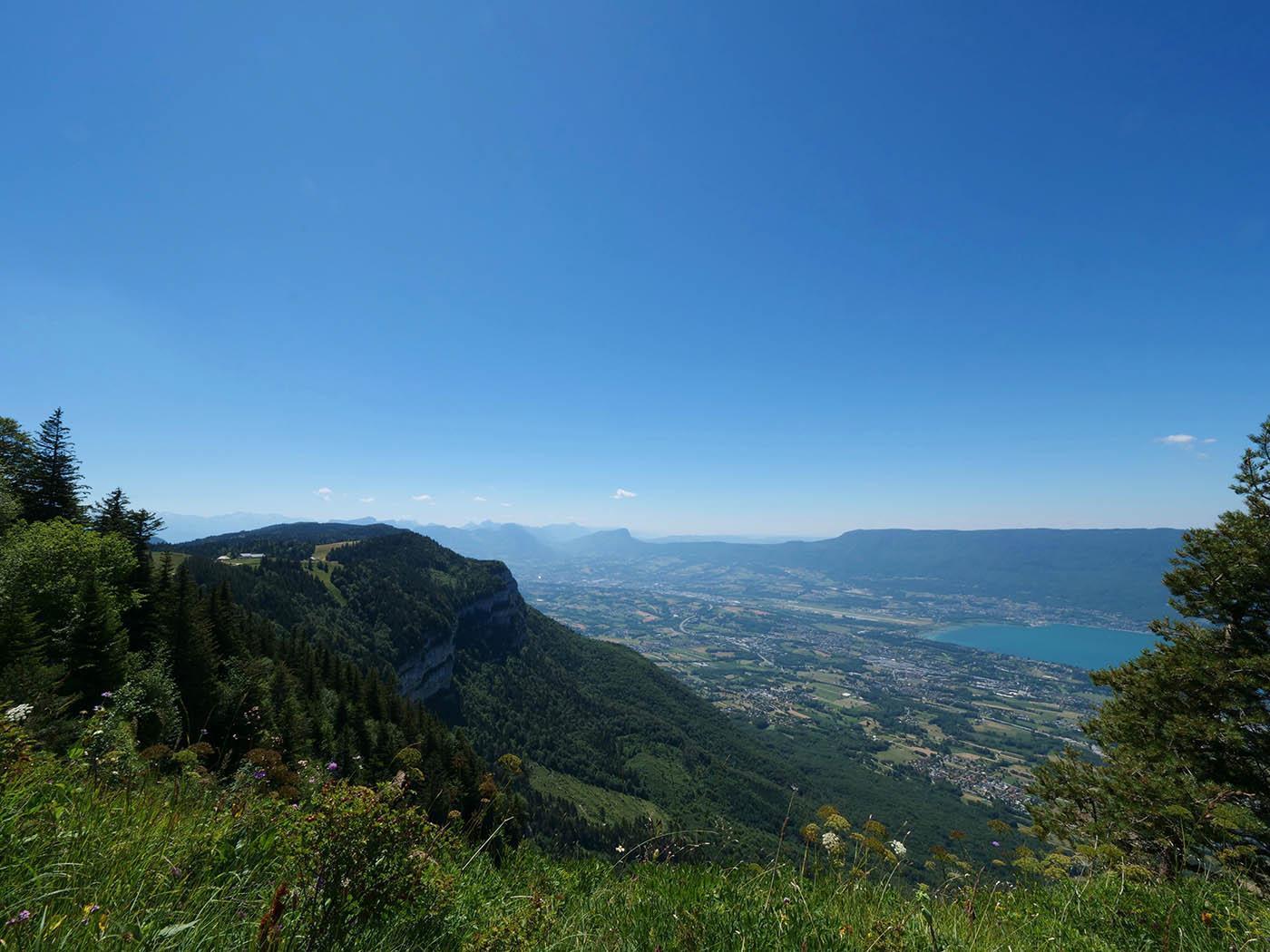 vue sur lac Bourget depuis le Mont Revard