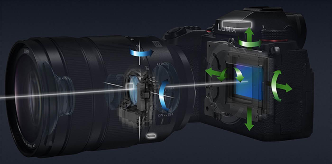 stabilisation capteur 5 axes Lumix S5