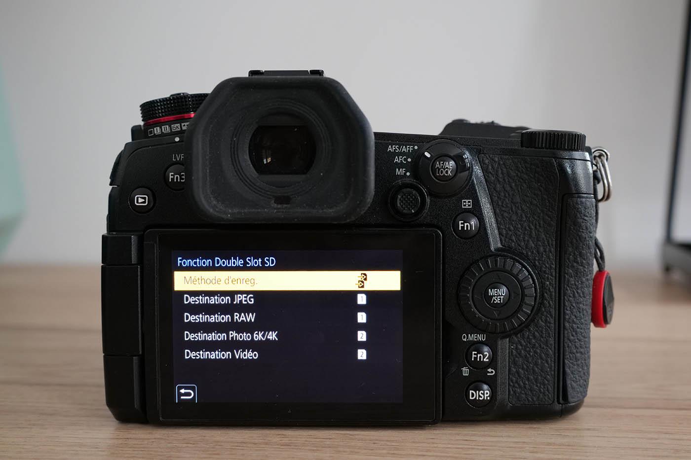 comment configurer Lumix G9 Panasonic