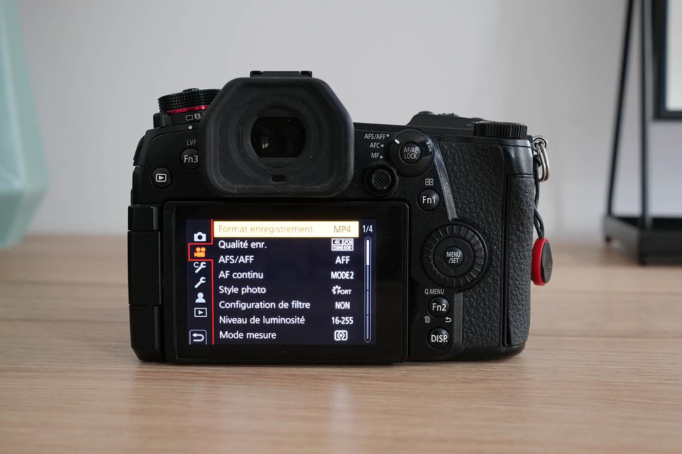 quels réglages vidéos sur Lumix G9 Panasonic