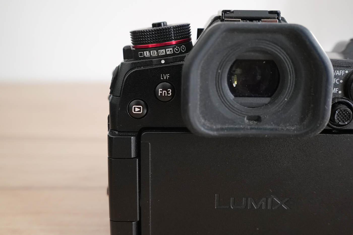 réglage viseur détection oeil sur Lumix G9 Panasonic